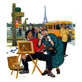 """Parisian Artist & Tourist"", July 11, 1959 Giclee Print by Richard Sargent"
