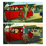 """Coming and Going to Work"", June 28, 1952 Giclee Print by Thornton Utz"