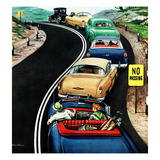 """No Passing"", October 9, 1954 Giclee Print by Stevan Dohanos"