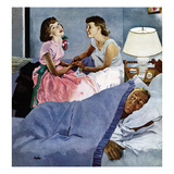 """Telling Mom About Her Date"", January 24, 1953 Giclee Print by George Hughes"