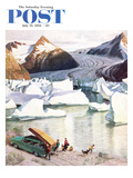 """Portage Glacier"" Saturday Evening Post Cover, July 25, 1959 Giclee Print by John Clymer"