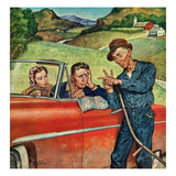"""Go Two Miles, Turn Left..."", July 9, 1955 Giclee Print by Amos Sewell"