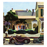 """Backyard Wedding"", June 24, 1950 Giclee Print by John Falter"