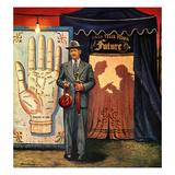 """Palmist"", June 10, 1950 Giclee Print by Stevan Dohanos"