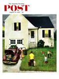 """Home from Vacation"" Saturday Evening Post Cover, August 23, 1952 Giclee Print by John Falter"