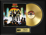 "KISS - ""Love Gun"" Gold LP Framed Memorabilia"