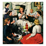 """Bridal Shower"", February 26, 1955 Giclee Print by Stevan Dohanos"