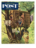 &quot;No Girls Allowed&quot; Saturday Evening Post Cover, August 9, 1952 Giclee Print by Stevan Dohanos