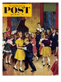 """Dance Cotillion"" Saturday Evening Post Cover, April 28, 1951 Giclee Print by Amos Sewell"