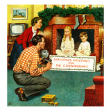 """Christmas Photograph"", December 11, 1954 Giclee Print by Amos Sewell"