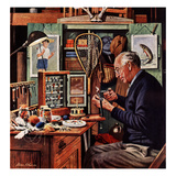 &quot;Tying Flies&quot;, March 4, 1950 Giclee Print by Stevan Dohanos