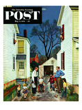 """Shaking Hands after the Fight"" Saturday Evening Post Cover, May 5, 1951 Giclee Print by John Falter"