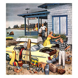 """Packing the Car"", September 8, 1956 Giclee Print by Stevan Dohanos"