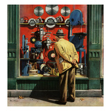 """Power Tool Window Shopping"", November 10, 1951 Giclee Print by Stevan Dohanos"