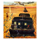 """Barges"", April 6, 1957 Giclee Print by Ben Kimberly Prins"
