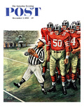 &quot;Five Yard Penalty&quot; Saturday Evening Post Cover, December 5, 1959 Giclee Print by Constantin Alajalov
