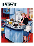 """""""First Cake"""" Saturday Evening Post Cover, May 21, 1955 Giclee Print by Stevan Dohanos"""