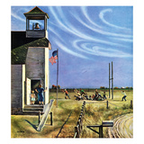 """Endl of Recess"", October 17, 1953 Giclee Print by John Falter"
