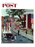 """""""Float Flat"""" Saturday Evening Post Cover, July 5, 1958 Giclee Print by Ben Kimberly Prins"""
