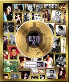Elvis Presley - 75 Anniversary Gold LP Framed Memorabilia