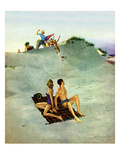 """""""No Chance to Be Alone"""", August 8, 1953 Giclee Print by George Hughes"""
