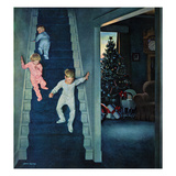 """Christmas Morning"", December 24, 1955 Stampa giclée di John Falter"