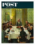 """Family Birthday Party"" Saturday Evening Post Cover, March 15, 1952 Giclee Print by John Falter"