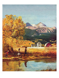 """Colorado Creek"", October 13, 1951 Giclee Print by John Clymer"