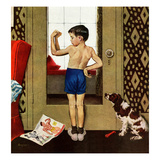 &quot;Young Charles Atlas&quot;, November 29, 1952 Reproduction proc&#233;d&#233; gicl&#233;e par George Hughes