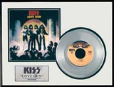 "KISS - ""Love Gun"" Platinum Record Framed Memorabilia"