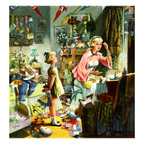 """""""Getting Ready for a Date"""", November 13, 1954 Giclee Print by Constantin Alajalov"""
