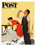 &quot;Take Your Medicine&quot; Saturday Evening Post Cover, September 23, 1950 Reproduction proc&#233;d&#233; gicl&#233;e par George Hughes