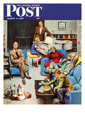 """Home Recital"" Saturday Evening Post Cover, March 3, 1951 Giclee Print by John Falter"