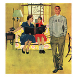 """Boyfriend's Baby Pictures"", March 14, 1953 Giclee Print by George Hughes"