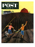 """Catfish"" Saturday Evening Post Cover, May 28, 1955 Giclee Print by John Falter"