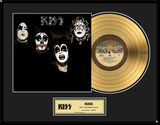 "KISS - ""KISS"" Gold LP Framed Memorabilia"