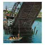&quot;Drawbridge&quot;, September 22, 1956 Reproduction proc&#233;d&#233; gicl&#233;e par Ben Kimberly Prins
