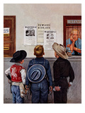 """Wanted Posters"", February 21, 1953 Giclee Print by Stevan Dohanos"