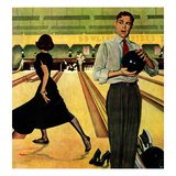 """Bowling Strike"", January 28, 1950 Giclee Print by George Hughes"