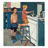 """Small Fry"", July 12, 1958 Giclee Print by Amos Sewell"
