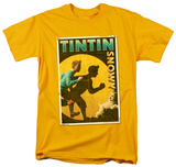 The Adventures of TinTin - Tintin &amp; Snowy Flyer T-Shirt