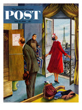 """Paris Hotel"" Saturday Evening Post Cover, July 14, 1956 Giclee Print by Constantin Alajalov"