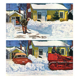 """Plowed-Over Driveway"", December 18, 1954 Giclee Print by Earl Mayan"