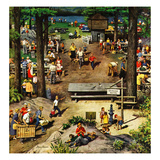 """Labor Day Picnic"", September 11, 1954 Giclee Print by Stevan Dohanos"