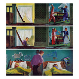 """Pillow Fight"", November 19, 1955 Giclee Print by Thornton Utz"