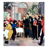 """Leisurely Lunch"", February 28, 1959 Giclee Print by George Hughes"