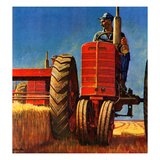 """Wheat Harvest"", August 12, 1950 Giclee Print by Mead Schaeffer"