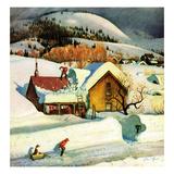 """Deep Snow Fall"", January 23, 1954 Giclee Print by John Clymer"