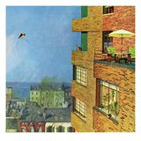 """Apartment Kite Flyer"", June 14, 1958 Giclee Print by Earl Mayan"