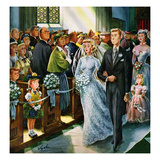 """Wedding Recessional"", June 13, 1953 Giclee Print by Constantin Alajalov"